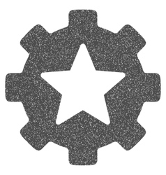 Star Favorites Options Gear Grainy Texture Icon vector image