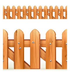 Wooden fence seamless border vector image vector image