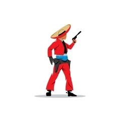 Bandit Mexican vector image vector image