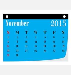 Calendar November 2015 vector image vector image