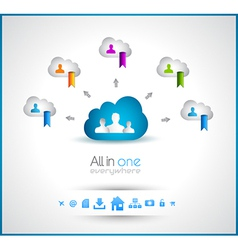 Cloud Computing concept background vector image vector image