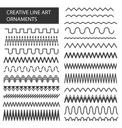 creative of hand drawn line vector image