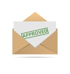 Approved letter vector image vector image