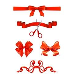Bows and ribbons set vector image vector image