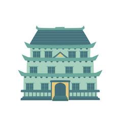 pagoda traditional japanese chinese asian vector image
