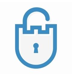 privacy lock logo vector image