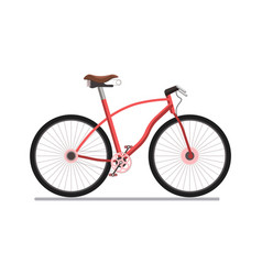 bicycle pedal urban or sport vehicle vector image vector image