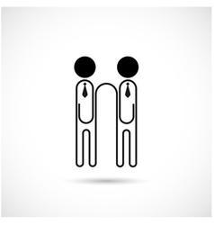 Businessman and paper clip logo design vector image