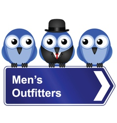 MENS OUTFITTERS vector image vector image