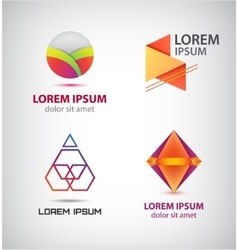 Set of abstract colorful logos company vector