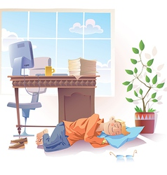 Sleeping at Office vector image vector image