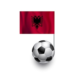 Soccer Balls or Footballs with flag of Albania vector image vector image