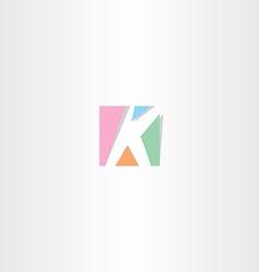square letter k logo k icon design vector image