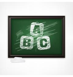 ABC on blackboard vector