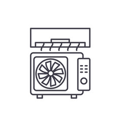 air conditioning line icon concept air vector image