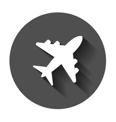 airplane sign icon airport plane business vector image
