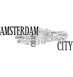 amsterdam bed and breakfast text word cloud vector image