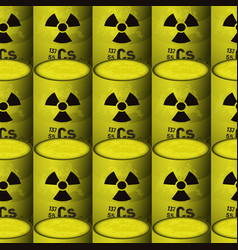 Barrels of radioactive toxic waste seamless vector