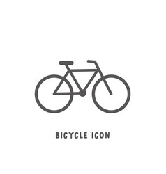 bicycle icon simple flat style vector image