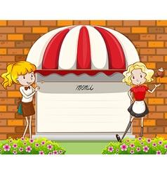 Blank menu vector image