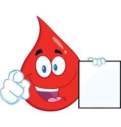 Blood drop cartoon vector