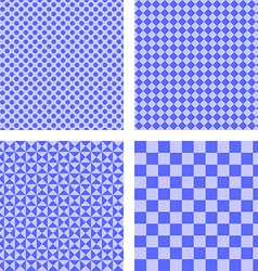 Blue simple pattern set vector