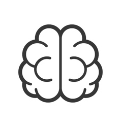 Brain logo icon on white background vector