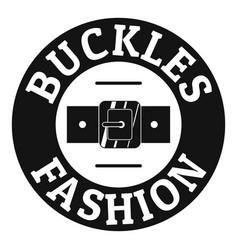 Buckle fashion logo simple black style vector