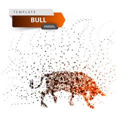 bull dott splatter glare sun vector image
