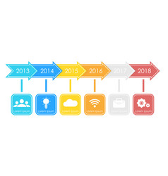 business timeline process chart infographics vector image