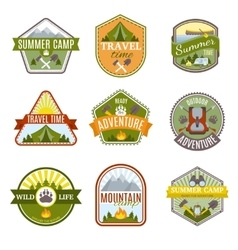 Camping Emblems Icon Set vector