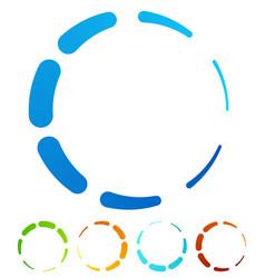 Circular round design elements preloader buffers vector