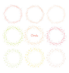 collection of decorative round frames vector image