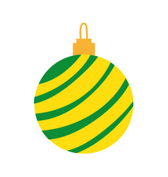colorful circle ball to merry christmas decoration vector image