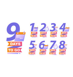 Countdown left days banner count time sale vector