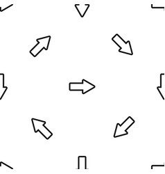 cursor to right pattern seamless black vector image