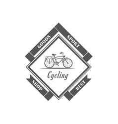 Cycling shop logotype vector
