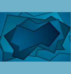 dark blue abstract papercut corporate background vector image
