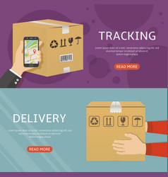 delivery web banners flat design vector image