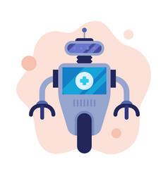doctor robot modern healthcare technology flat vector image