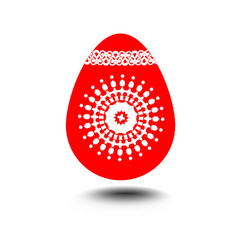 Easter egg isolated decoration on white vector
