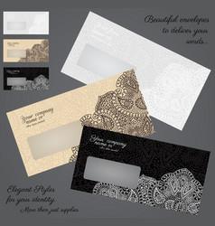 elegant envelopes concept set vector image