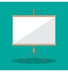 Empty projection screen presentation board vector