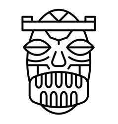 ethnic idol icon outline style vector image