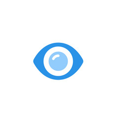eye icon blue monochrome color vector image