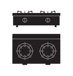 Gas stove cooker icon flat sign vector