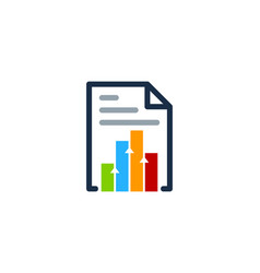 Graph document logo icon design vector