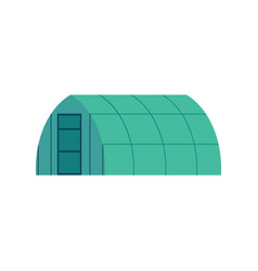 Greenhouse with glass walls for growing vegetables vector