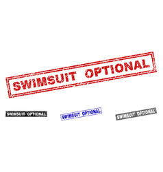 Grunge swimsuit optional textured rectangle vector