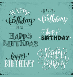 happy birthday phrases vector image